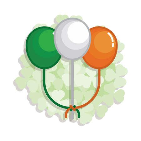 bandera irlanda: globos bandera de Irlanda