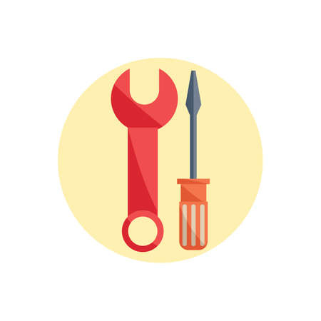screwdriver: wrench and screwdriver Illustration