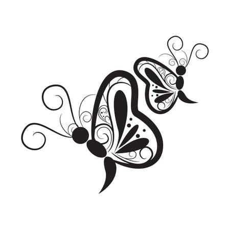 Conception de tatouage de papillon Banque d'images - 52792756