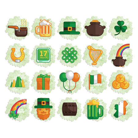 17th: set of st.patricks day icons