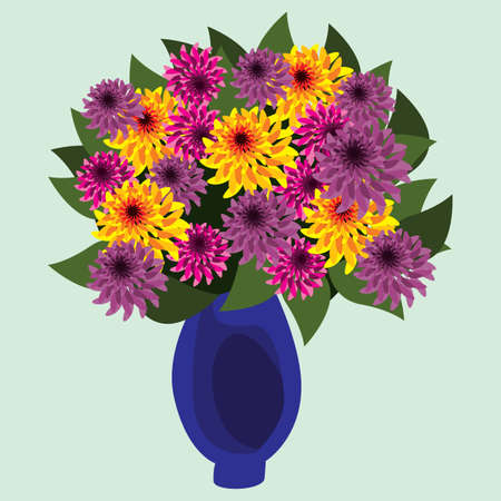 vase of flowers: colorful flowers in vase