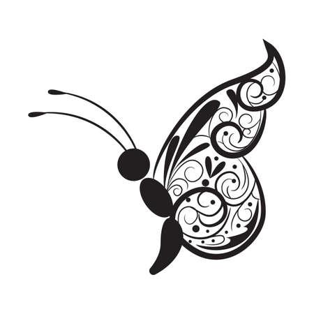 Conception de tatouage de papillon Banque d'images - 52792882