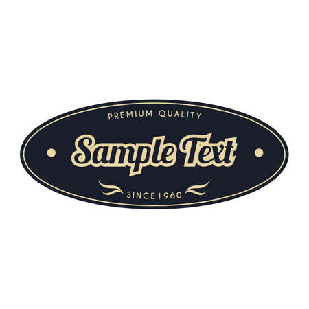 sample: sample vintage label Illustration