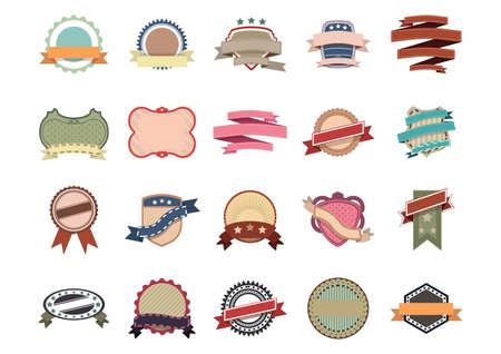 colección de etiquetas de la vendimia Ilustración de vector
