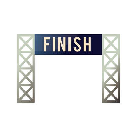 finish: finish line board Illustration