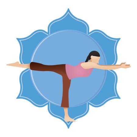 iii: girl practising yoga in warrior iii pose