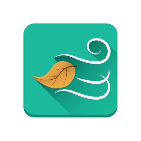 blown: wind blown autumn leaf