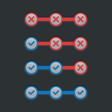 cross bar: step by step progress bar