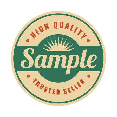 sample vintage label