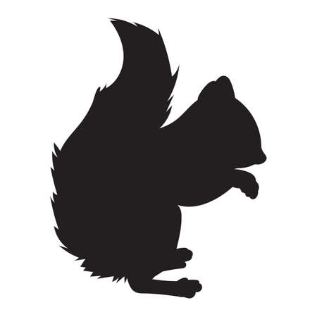 rodents: squirrel silhouette Illustration