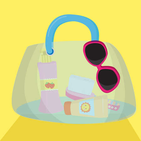 womans: womans bag with make up accessories