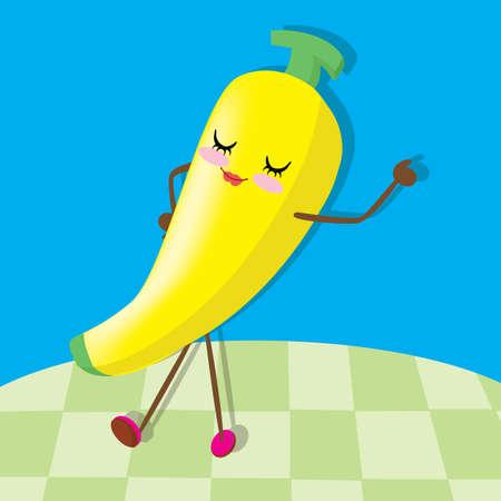 closed eyes: banana dancing with closed eyes