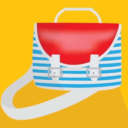satchel: backpack Illustration