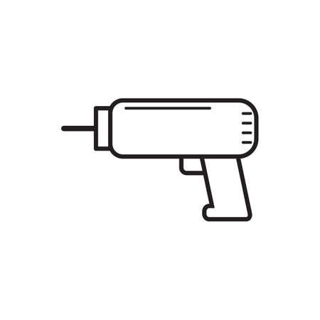 drill: cordless drill Illustration