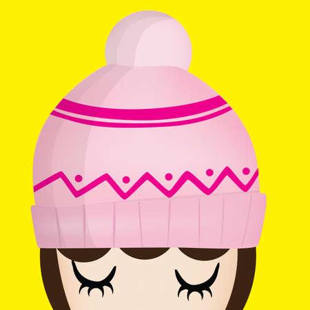 beanie: girl with beanie cap
