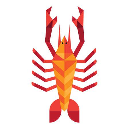 crawling animal: geometrical crab