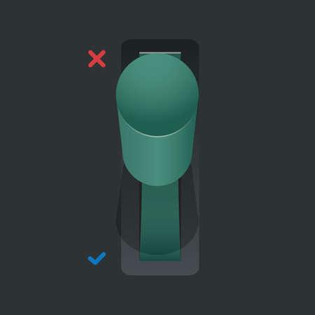 canceled: cancel toggle button