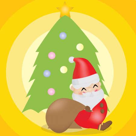 x mas background: santa claus sitting