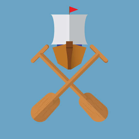 paddles: boat with paddles