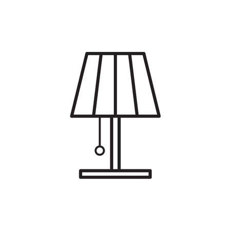 on the table: table lamp