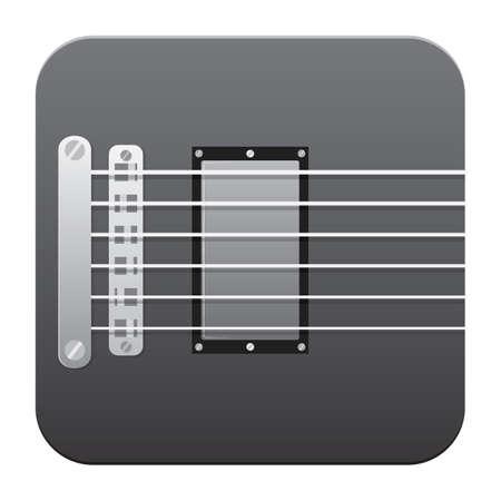 strings: guitar strings Illustration