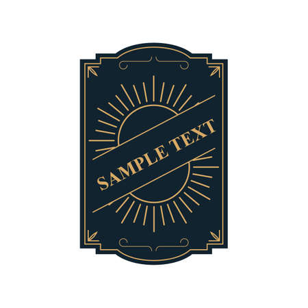 sample: sample text label Illustration