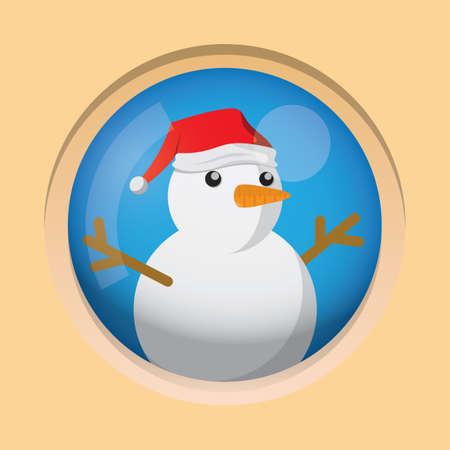 Snow man  Vecteurs