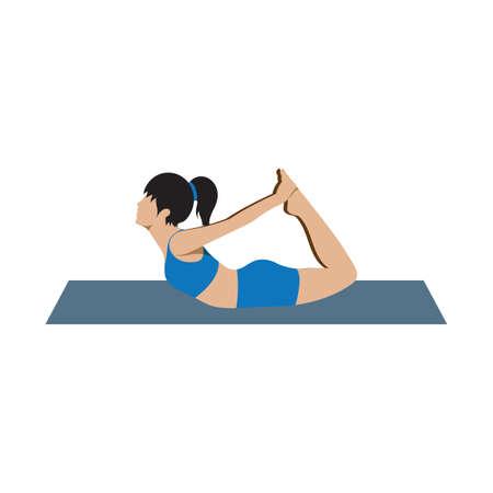 bend: bow back bend asana