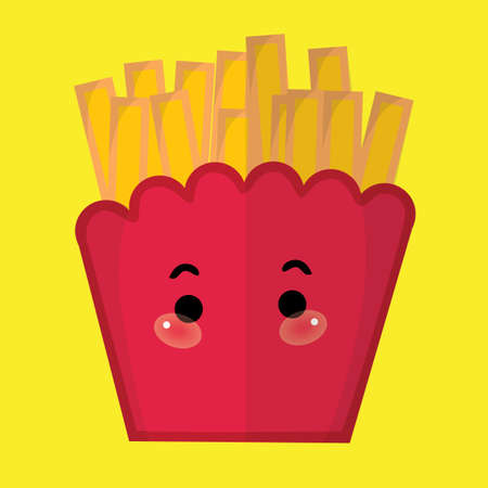 fries: french fries Illustration