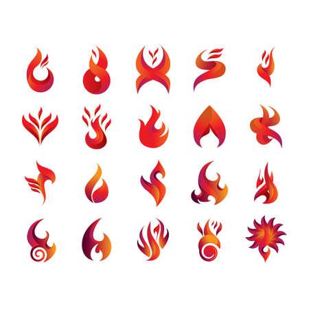 Satz von Feuer-Symbole