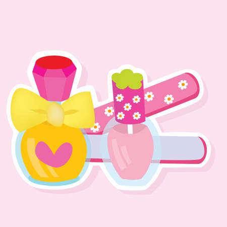makeup products: hair straighter and nail polish