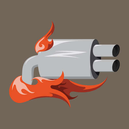 silencer: car silencer Illustration