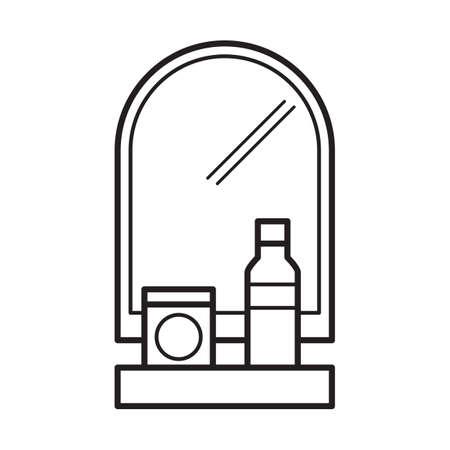 rack: mirror with rack Illustration