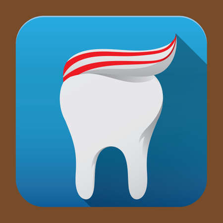 tooth paste on tooth Banco de Imagens - 81469433