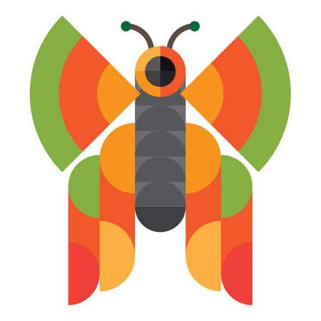 geometrical: geometrical butterfly Illustration