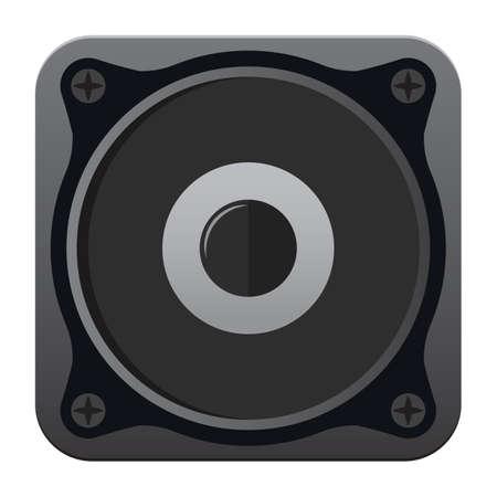 speaker sound box Vektorové ilustrace