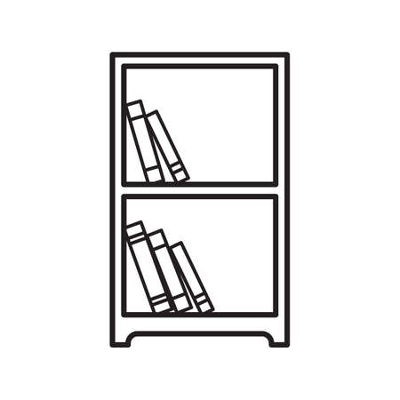 storage unit: bookshelf Illustration
