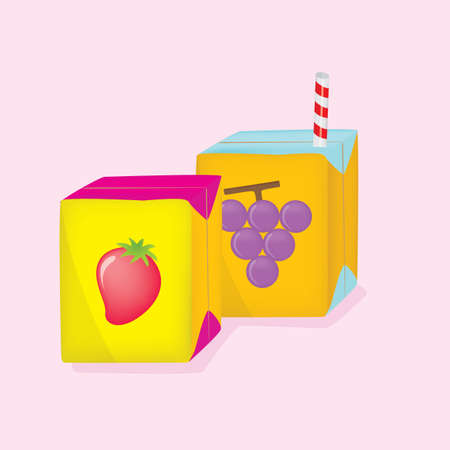 grape juice: strawberry and grape juice