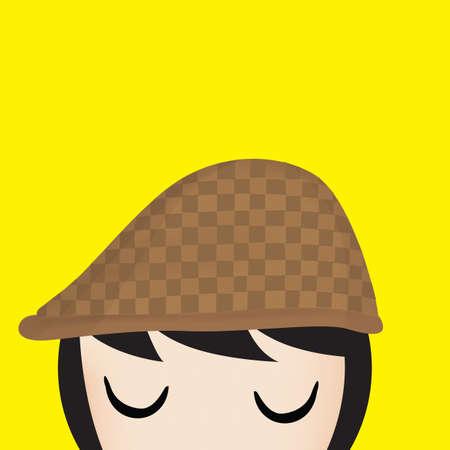 flat cap: girl with flat cap