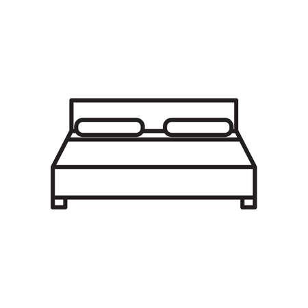 クイーン サイズのベッド  イラスト・ベクター素材