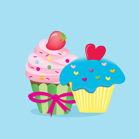 toppings: cupcakes Illustration