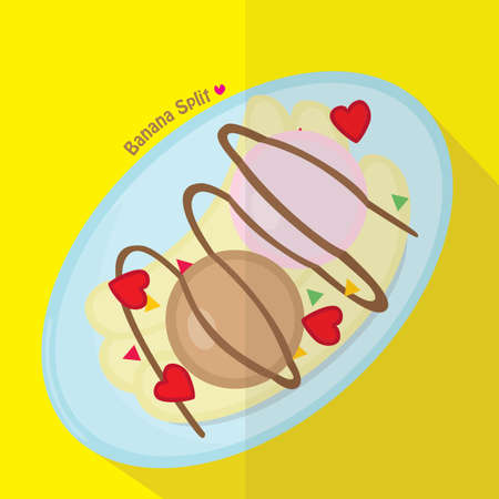 the split: banana split Illustration