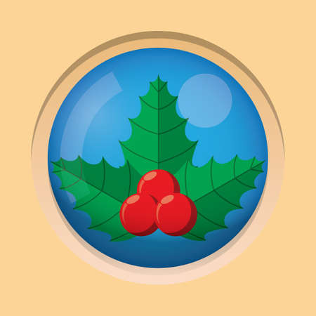 holy leaves: holy leaves button Illustration