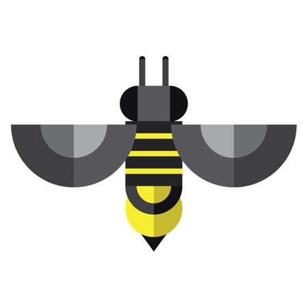 geometrical: geometrical honey bee Illustration