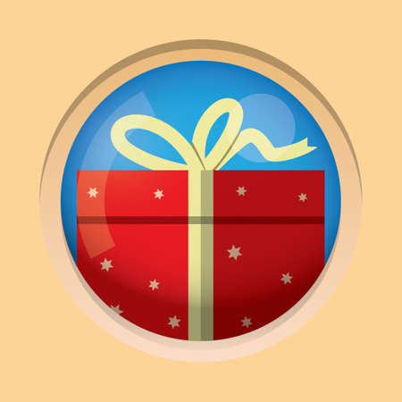 packets: gift pack button Illustration