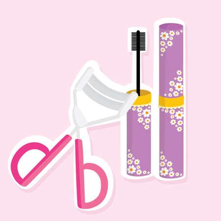 curler: mascara and eyelash curler