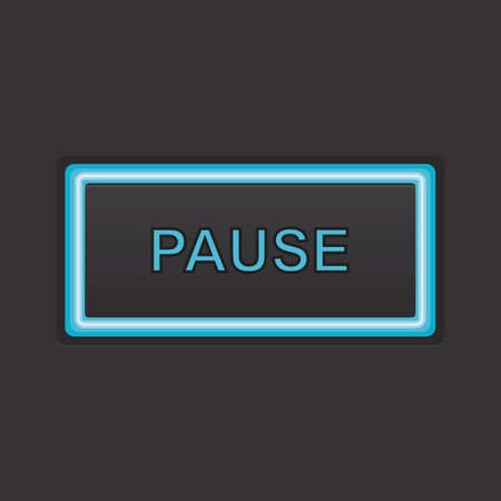 pause button: pause button Illustration