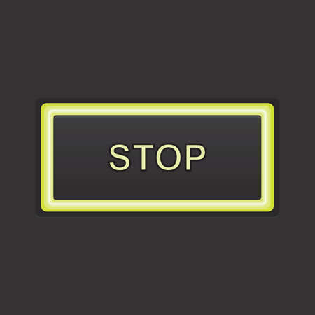 stop button: stop button Illustration