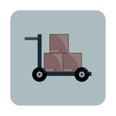 hand truck: hand truck Illustration