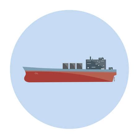 tanker ship: tanker ship Illustration